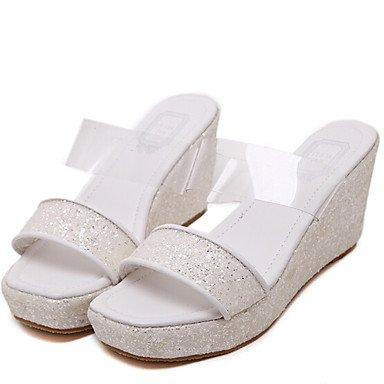 RTRY Donna Pantofole &Amp; Flip-Flops Comfort Pu Molla Informale Comfort Verde Bianco 1A-1 3/4In US8 / EU39 / UK6 / CN39