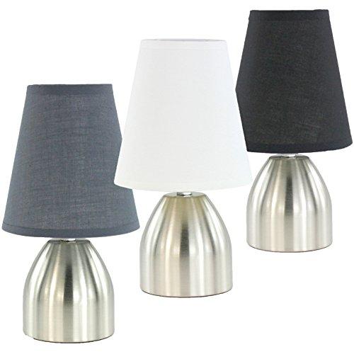 Nachttischlampe Tischlampe Tischleuchte mit Touch Funktion Weiß 998 mit 3 Leuchtstufen -