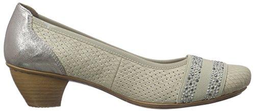 Rieker - 47686 Women Closed-toe, Scarpe col tacco Donna Beige (Beige (champignon/grey/beige / 60))