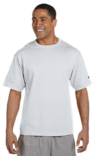 Champion 7 oz-Baumwoll T-Shirt Heritage Jersey, WHITE, S, 7 oz Heritage Baumwolle Grau - Silver Gray