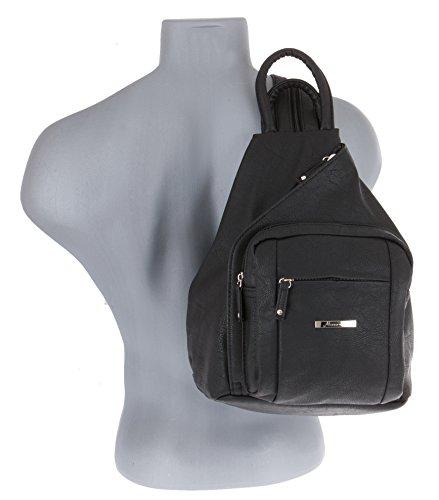 ALESSANDRO Femme Bag Handtasche Rucksack Damentasche + Schlüßelmäppchen (TIRANO Black 6) - 3
