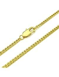 KONOV Joyería Collar de hombre, 3mm Clásicos Link, Cadena Longitud Opcional, Acero inoxidable, Color oro (con bolsa de regalo)