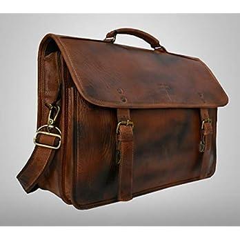 Handgemaakte volnerf buffel rustiek lederen gepersonaliseerde tas voor mannen en vrouwen