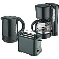 Efbe-Schott Juego de desayuno WK 1080+ to 1080+ KA 1080Hervidor de agua 1L, Tostadora y cafetera eléctrica 1,25l verde oscuro