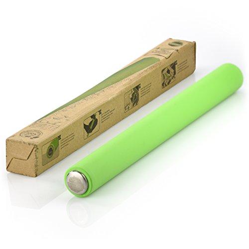 TreeBox Profi Teigrolle aus Silikon und Edelstahl – Das Moderne Nudelholz ohne Griffe – Fondant und Teig im Handumdrehen Ausrollen – Angenehme Größe und Antihaftwirkung