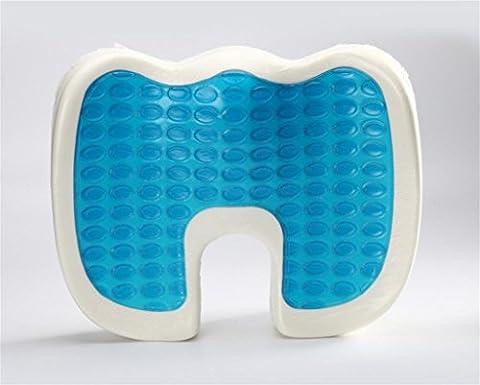 XXFFH® Produits d'aide à la santé à domicile, coussin de siège à gel froid et chaud, coussin de siège froid pour l'été , blue / black , 45.5*36*6/7cm