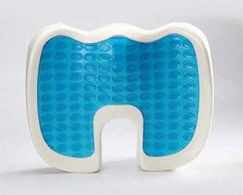 lichunyan Produkte zur Pflege der Gesundheit im Haus, kühlen in Kalt-Kissen Gelkissen, Sitzkissen-Kalt für den Sommer 45.5*36*6/7cm blau / schwarz (Liebe-gel-massage)