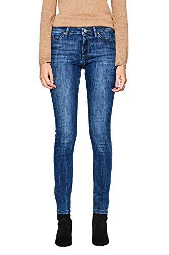 edc by ESPRIT Damen Skinny Jeans 997CC1B817, Blau (Blue Medium Wash 902), W27/L30