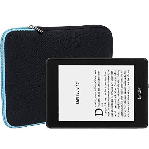Slabo Tablet Tasche Schutzhülle für Kindle Paperwhite 2018 (10. Generation) Hülle Etui Case Phablet aus Neopren – TÜRKIS/SCHWARZ