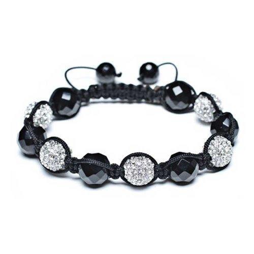 Bling Jewelry Shamballa inspiriert Armband Bergkristall Kugeln 12 mm Facettierte Perlen