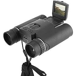 Topiky Appareil Photo numérique Jumelles, 1,5 Pouces LCD 10X25 Zoom HD télescope caméra Support enregistreur de Photos vidéo Enregistrement Carte mémoire pour la Chasse au Tourisme