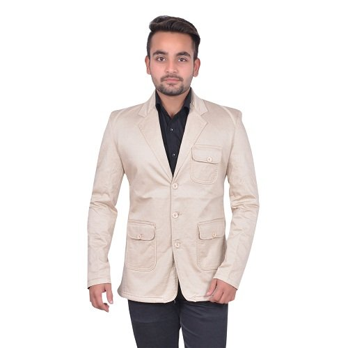 GDS Cotton Party Wear Brown Blazers For Men
