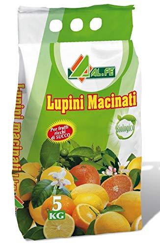 lupini macinati concime per limoni e piante acidofile confezione in sacco da 5 kg