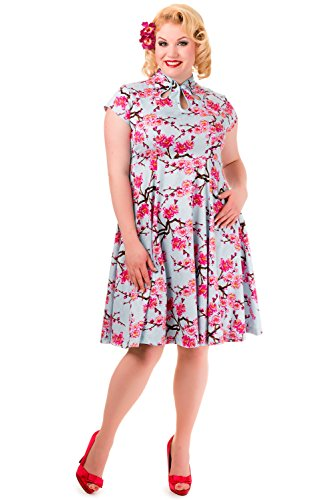Banned Last Dance Cherry Blossom 1950s Vintage Pin Up Dr - UK 18 / US 14 / EU 44 -