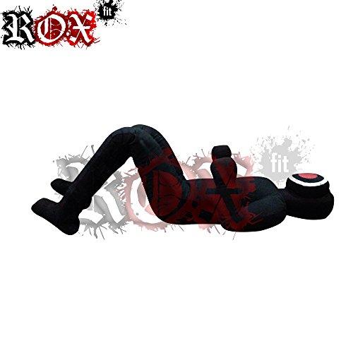 ROX Fit Grappling Dummy Rox Fit MMA Realistische Judo Boxsack Arm Lock Grappling Dummy-Sitzender Position-Hände Vorne Schwarz 4Fuß, 5Fuß, 6Fuß, Schwarz, 6 Foot (72