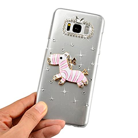 Sunroyal Rhinestone Coque pour Samsung Galaxy S8 Plus Cas,Diamant Bling