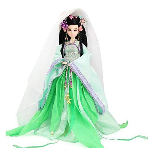 DoCori Muñecas de Seda, decoración Oriental, muñeca China con Traje Antiguo, muñeca de niña de 12.5 Pulgadas para decoración de Mesa,c