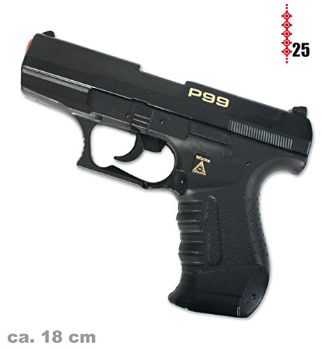 Pistole Agent P99 25 - Schuß - Pistole Kinder Fasching
