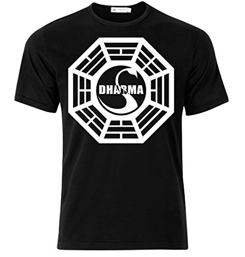 T-shirt uomo dharma, lost inspired, serie tv