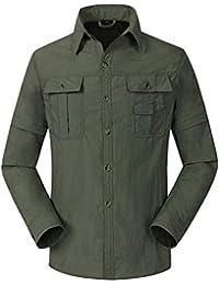 Freiesoldaten Hombre Al Aire Libre Secado Rápido Protección UV Convertible  Manga Larga Manga Corta Camisa d90c913dac194