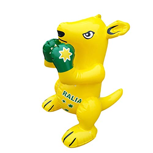 DEtrade Aufblasbare Maus 40cm Kuscheltier Für Poolparty Dekoration Aufblasbar Tier Spielzeug Für Zuhause, Party, Pool, Geburtstag, Geschenke, Dekorationen (Yellow)