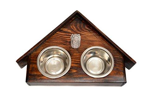 Artikelbild: Yorkshire-Terrier, Eine Hundeschale mit einem Relief von ArtDog