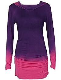 Women s Hoodies TUDUZ Women Gradient Color Long Sleeve Hoodies Sweatshirts  Outdoors Sports Yoga Fitness Workout Hooded 7aebdf89a