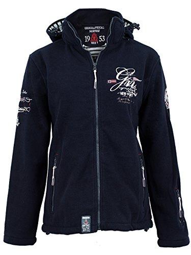 Geographical Norway - Sweat à capuche - Femme Noir Noir Noir - Bleu marine