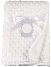 Moresave Manta de bebé recién nacido Manta térmica de vellón suave Manta de bebé envuelta envolvente
