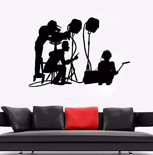 Lvabc Neues Design Wandtattoo Film Machen Crew Wandbild Film Kino Vinyl Kunst Dekoration Movie Maker Silhouette Wandkunst Aufkleber 61X42 Cm