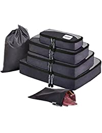 HOPERAY Packing Cubes Travel Organizer Mesh Bags - 6 pcs Lightweight Set