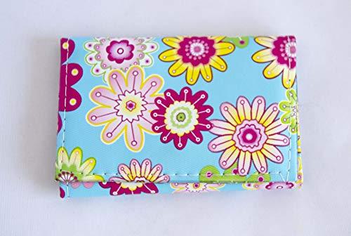 Blaue Geldbörse mit Blumenmuster GRATIS VERSAND 72H Sanchez Tasche