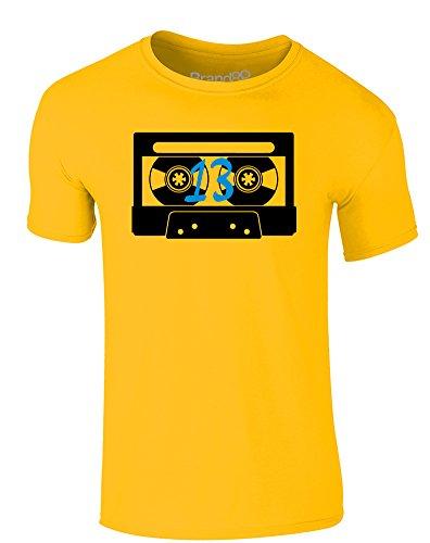 Brand88 - Tape Number 13, Erwachsene Gedrucktes T-Shirt Gänseblümchen-Gelb/Schwarz