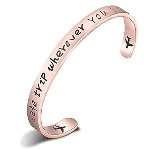"Armband mit Aufschrift ""Safe Trip Wherever You Go"""