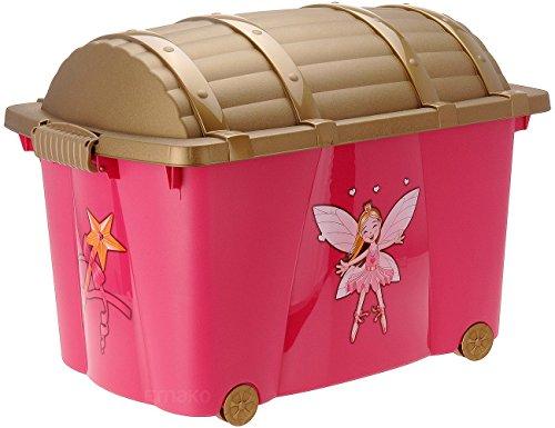 Caja de almacenaje, caja de juguetes de pirata, caja con ruedas