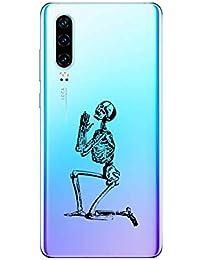 Oihxse Funda Huawei P Smart Z, Ultra Delgado Transparente TPU Silicona Case Suave Claro Elegante Creativa Patrón Bumper Carcasa Anti-Arañazos Anti-Choque Protección Caso Cover (A9)