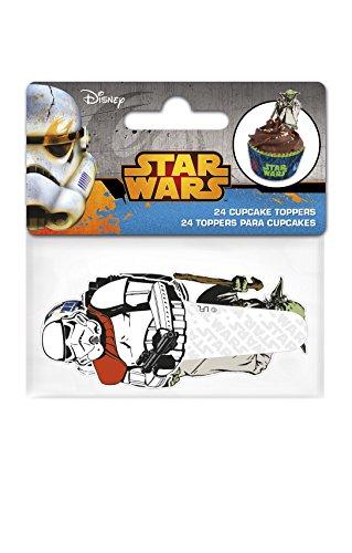Boyz Toys 24Papier Cupcake Topper-Star Wars (Cupcake Star Dekorationen Wars)