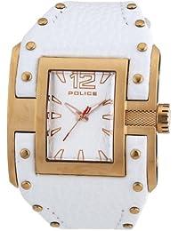 Police R1451132003 - Reloj para mujer con correa de piel, color blanco / gris