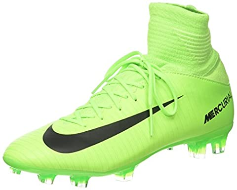 Nike Mercurial Superfly V, Chaussures de Football Entrainement Mixte Enfant, Vert (Electric Green/Black-Flash Lime-White), 38.5 EU