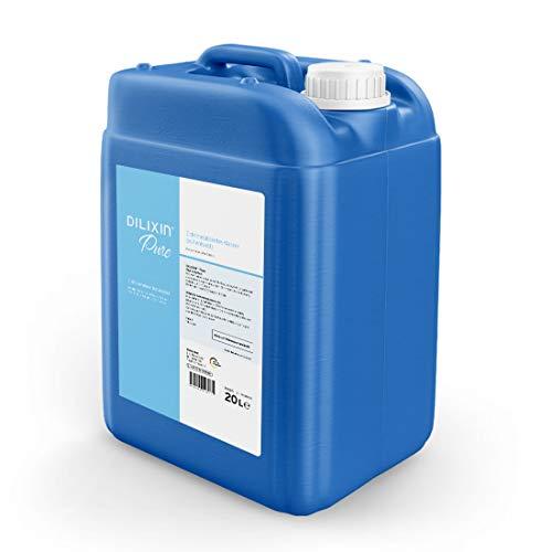 DILIXIN® Pure, entmineralisiertes Wasser durch Osmose, 20 Liter Kanister UV geschützt, VE Wasser für Luftbefeuchter, destilliertes und reines Wasser mit maximaler Leitfähigkeit von < 7 µS/cm