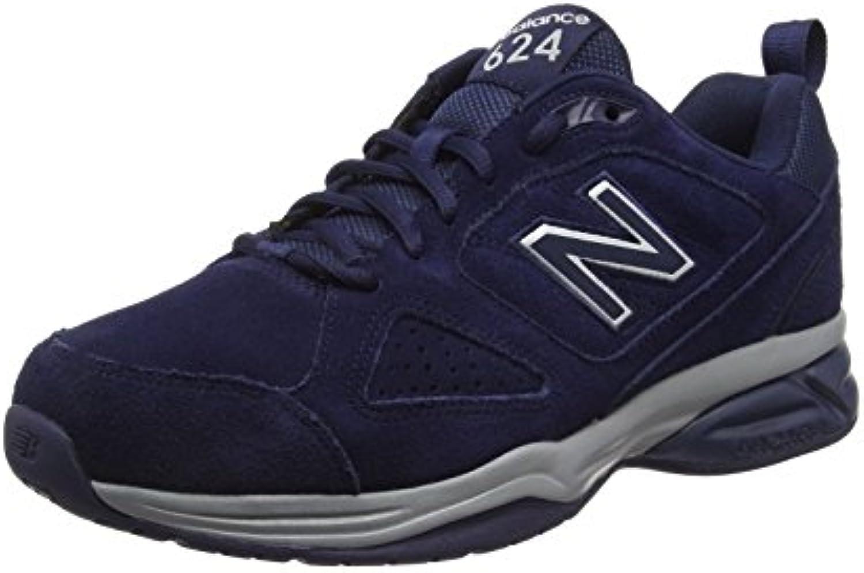 New Balance Herren 624 Hallenschuhe  Blau (Pigment Nv4)  47.5 EU