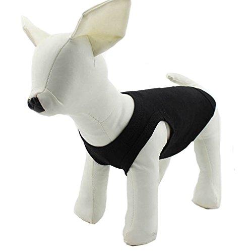 Kleidung Hundemantel mit T-Shirt Tee Shirt Tank Top Weste für kleine mittlere große Hunde Größe der Sommer-Kostüm, 11Farben aus 100% Baumwolle (Bilder Von Haustiere In Kostüme)