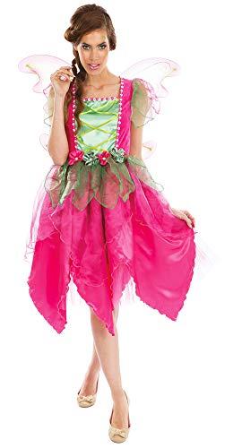 Hochwertiges Fee Flower Kostüm für Damen - Pink Grün - Gr. - Wald Fee Kostüm