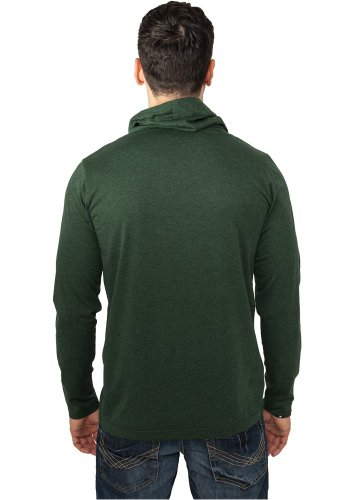 Melange High Neck L/S Tee forestgreen/black