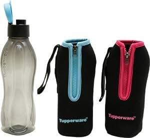 Tupperware Aquasafe 750 ml Water Bottle(Set of 1, Black)