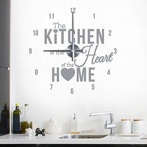 wandkings-the-kitchen-is-the-heart-of-the-home-wanduhr-wandtattoo-farbe-uhrsilber-aufklebermittelgra