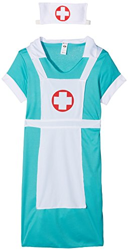 wester Kostüm, Kleid, Mock-Schürze und Haube, Größe: S, 25870 (Halloween Arzt Kostüme)