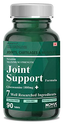 Carbamide Forte Joint Support Supplement with Glucosamine 1800mg, Chondroitin 450mg, MSM 1005mg, Boswellia 150mg & 4 Ingredients Per Serving | Joint Pain Supplement - 90 Tablets