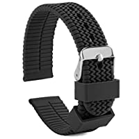 UNITED WATCH BANDS Silicone Watch Band for Men and Women - Replacement Rubber Watch Strap, 18mm 20mm 22mm 24mm, Includes Spring Bar & Tool, Multiple Colors, Waterproof & Durable Watch Band Replacement