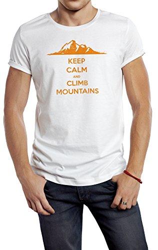 Halten Sie Ruhe und klettern Berge, männlichen Sport 180g. Premium Qualität Schnelltrocknung (XXL) (Männliche Weste Hippie)